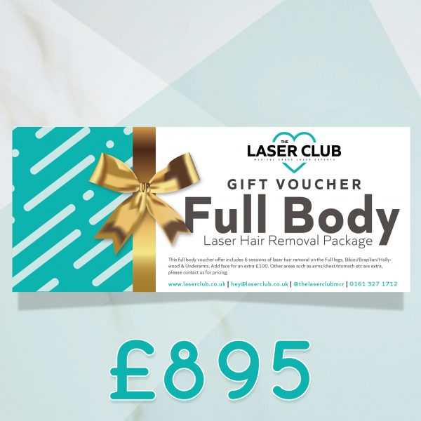 The Laser Club Manchester laser hair removal gift voucher